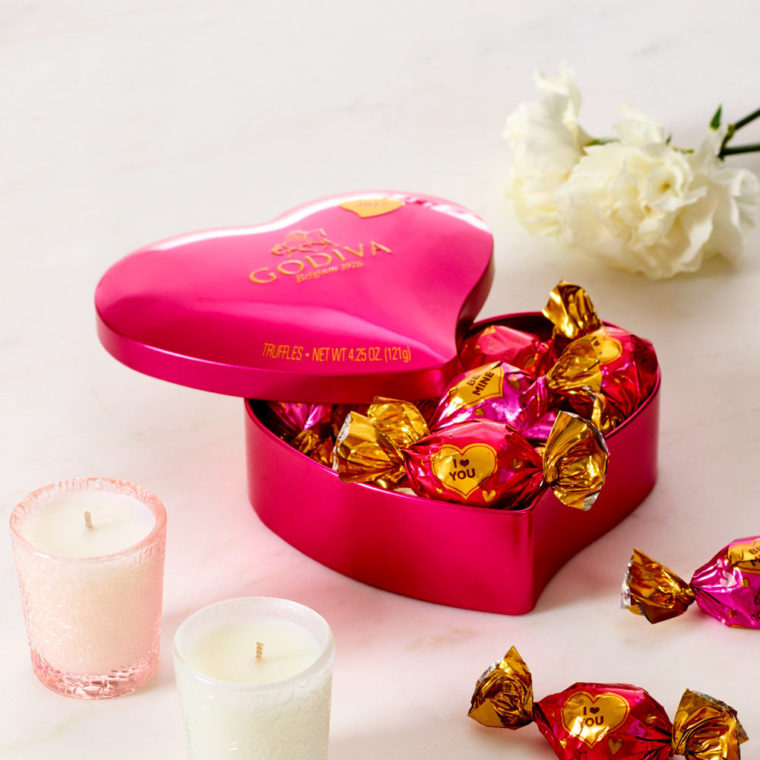 Valentines Packaging Godiva Heart Tin